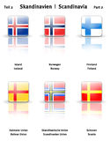 Glossy  icons Scandinavia (Part 2) Stock Photography