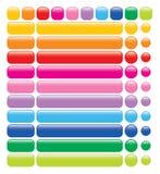 Glossy rainbow web buttons Stock Photo