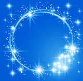 Glowing blue background Stock Image