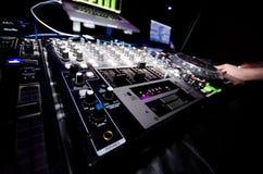 Glowing DJ Nightclub Equipment Stock Image