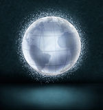 Glowing globe Royalty Free Stock Images