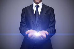 Glowing Hands Stock Photography