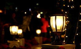 Christmas lights background outdoor light Royalty Free Stock Photos