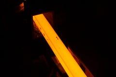 Glowing steel bar Stock Image