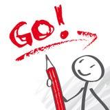 Go, Motivation, coaching Stock Photography