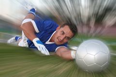 Goalkeeper Save Stock Image