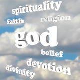 God Spirituality Words Religion Faith Divinity Devotion Royalty Free Stock Photo