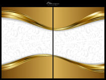Gold abstract background, front and back Royalty Free Stock Photo