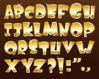 Gold alphabet Stock Photo