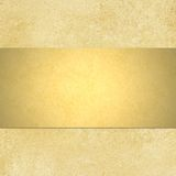 Gold background with blank shiny golden ribbon lay Royalty Free Stock Photo