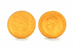 Gold coin. 10 rubles. Russia . Stock Images