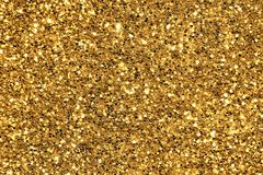 Gold glitter background Royalty Free Stock Images