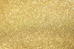 Gold Glitter Selective Focus Royalty Free Stock Photos