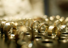 Gold jewelry shop Royalty Free Stock Photography