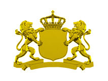 Gold lion crest banner Royalty Free Stock Photo