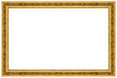 Gold Ornate Picture Frame Royalty Free Stock Photo