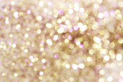 Gold and purple and red abstract bokeh lights, defocused background Stock Image
