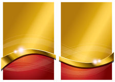 Gold Red Abstract Background Stock Photography