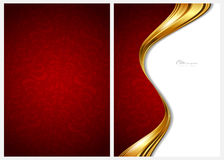 Gold and red abstract background, front and back Stock Images