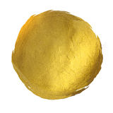 Gold Round Shining Paint Stain Hand Drawn Royalty Free Stock Photo