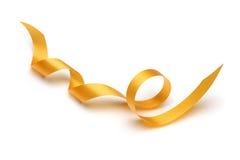 Gold satin ribbon Stock Images
