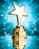 Gold star trophy Royalty Free Stock Photos