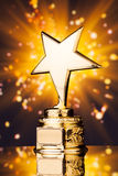 Gold star trophy Royalty Free Stock Image