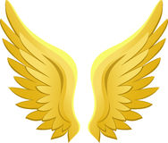 Golden Angel Wings/eps Stock Photo