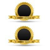 Golden award badge Royalty Free Stock Photos