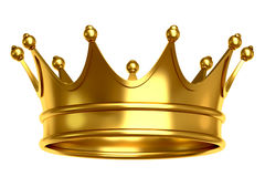 Golden crown illustration Royalty Free Stock Photo