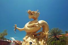 Golden dragon. Phuket Town, Thailand. Stock Photo