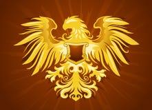 Golden eagle insignia Royalty Free Stock Photo