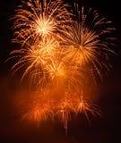 Golden Fireworks Stock Image