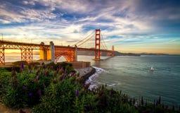 Golden gate bridge è situato a San Francisco, CA Fotografie Stock