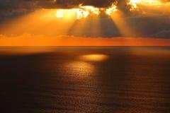 Golden morning at calm sea Royalty Free Stock Photography