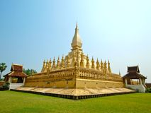 Golden pagada at Wat Pha-That Luang  in Vientiane  Stock Photography