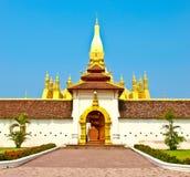 Golden pagada at Wat Pha-That Luang  in Vientiane Stock Image