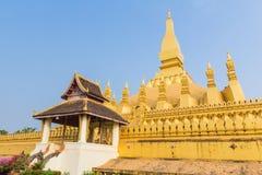 Golden pagada Wat Pha-That Luang in Vientiane, Laos Stock Photo