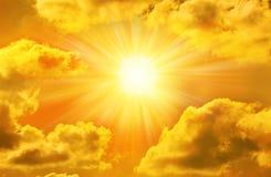 Golden Sky Sun Royalty Free Stock Photos