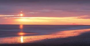 Golden sunset on beach Royalty Free Stock Photos