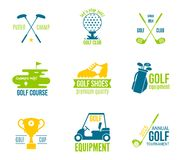 Golf label set Stock Photography