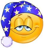 Good night emoticon Stock Photo