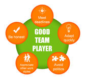 Good team player Stock Image