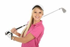 Gorgeous Blonde Golfer Lady Royalty Free Stock Photo