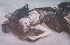 Gothic bride with veil Stock Images