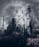 Gothic Industrial City Stock Image