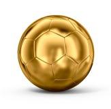 Gouden voetbalbal Royalty-vrije Stock Fotografie
