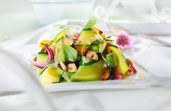 Gourmet Appetizing Fresh Green Salad Royalty Free Stock Photography