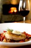 Gourmet swordfish dinner Stock Photos