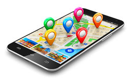 GPS navigation concept Royalty Free Stock Photography